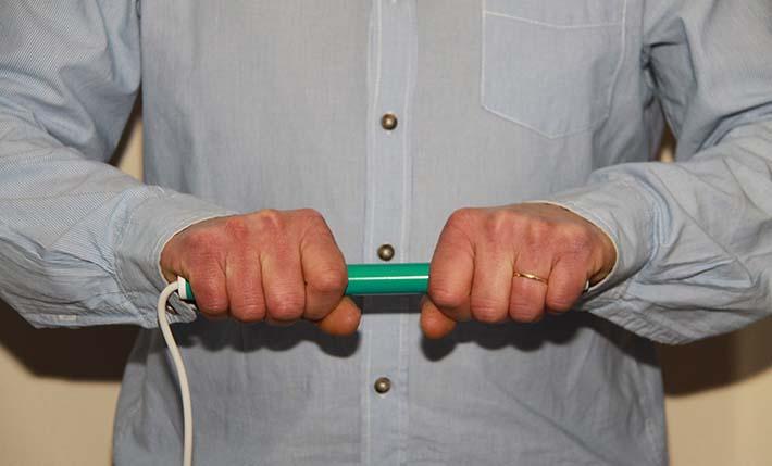 Magneetveld therapie staaf om handen, fybromialgie te behandelen